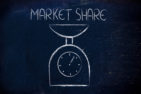a balance measuring market share and influence