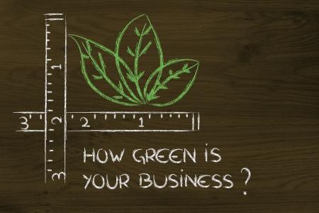 RSE et de l'environnement des entreprises amies, comment mesurer vert votre entreprise pourrait être Banque d'images
