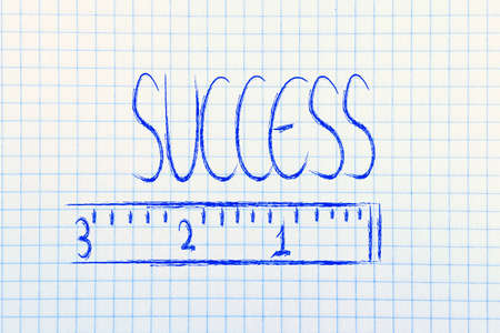 humour design of a ruler measuring success photo