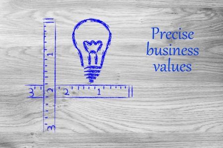 defined: progettazione concettuale circa la necessit� di valori aziendali precisi e ben definiti Archivio Fotografico