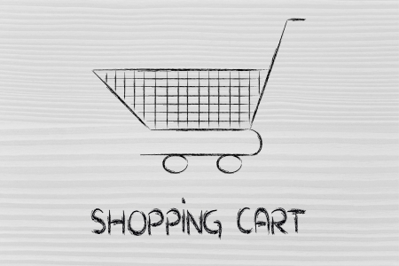 marketing strategy, design of shopping cart to fill photo