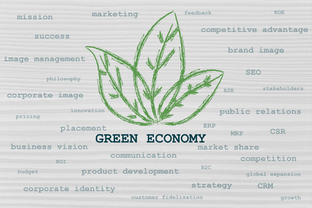 the influence of green economy taking over many aspects of business photo