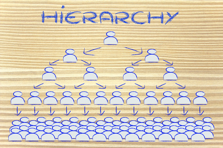 visual representation of hierarchy and rigid structures in company management photo