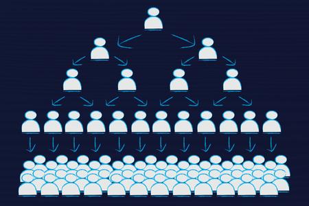 starr: visuelle Darstellung der Hierarchie und starren Strukturen der Unternehmensf�hrung Lizenzfreie Bilder