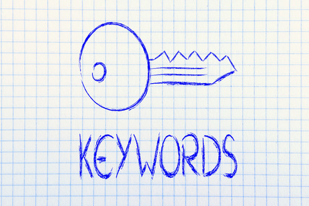 conceptual design of keywords and online searches photo