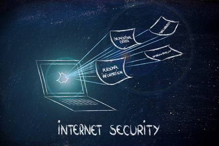 conceptual design of security of data and personal information on the web photo