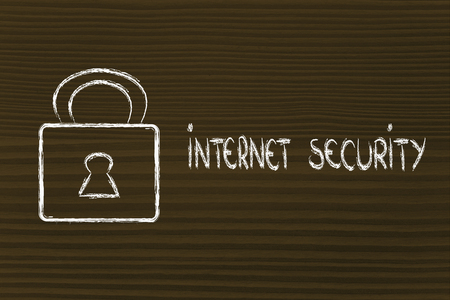 lock on internet security: privacy and personal information on the web photo