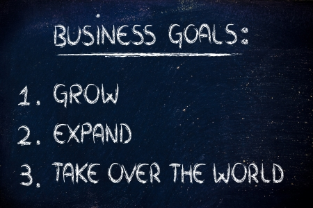 steps for business success: grow, expand, take over the world