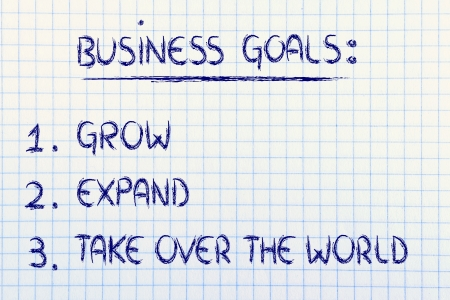 steps for business success: grow, expand, take over the world photo