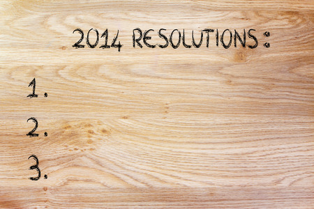 empty to do list of resolutions, wishes and goals for the new year photo