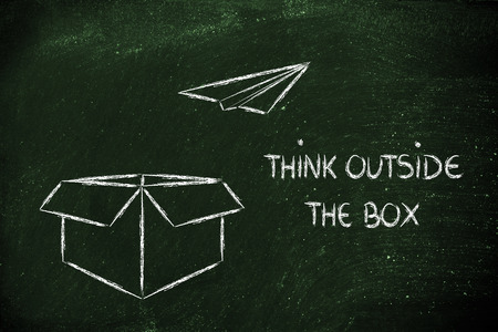 think outside the box for business success photo