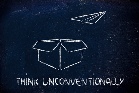 think unconventionally for business success photo