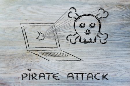 concept of malware and threats to the security of computers Stock Photo - 25648400