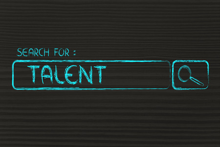 itc: search for talent, design of internet search bar on unusual surface