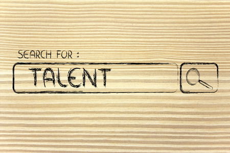 search for talent, design of internet search bar on unusual surface