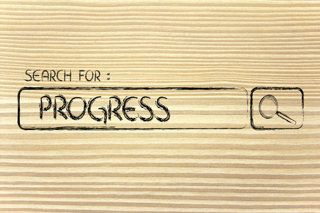 seeking progress, design of internet search bar on unusual surface