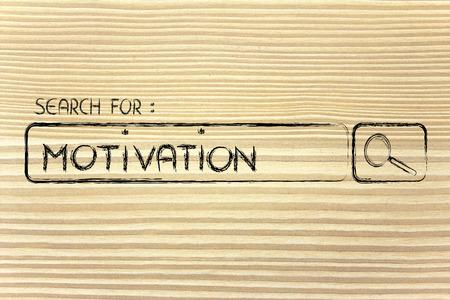seeking motivation, design of internet search bar on unusual surface Stock Photo
