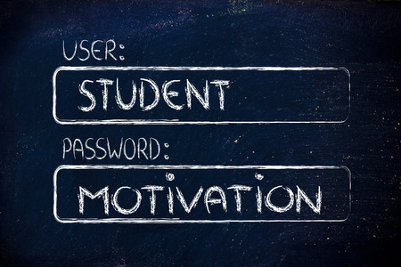 Log Out: user and password: concept of how a student needs motivation