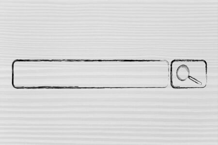 design of internet search bar on unusual surface, outside a screen Stock Photo