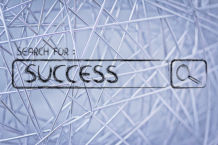 search for success, design of internet search bar on unusual surface