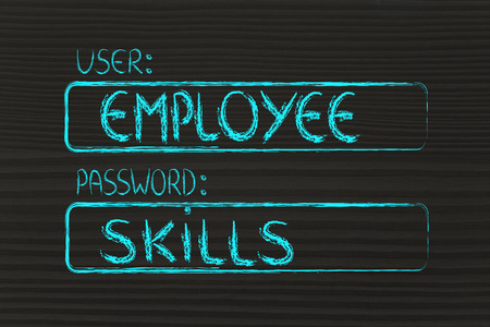 Log Out: user and password: concept of how an employee needs good skills