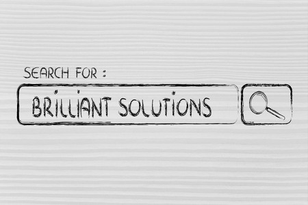 seeking brilliant solutions, design of internet search bar on unusual surface