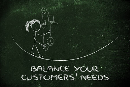 expectations: concept of dealing with customers needs and expectations: juggling with office tools