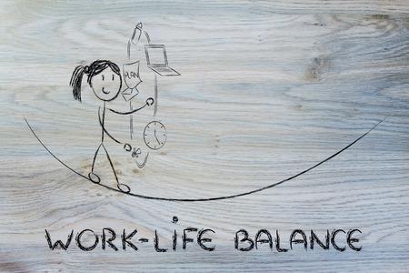 madre trabajadora: equilibrio trabajo-vida: trabajar malabares madre con pc y pacificador