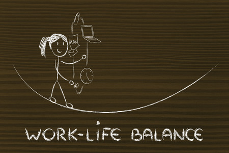 werkende moeder: work-life balance: werkende moeder jongleren met pc en fopspeen Stockfoto