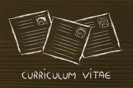 cv: Selezione CV e il processo recruitmet, riprende di persone diverse