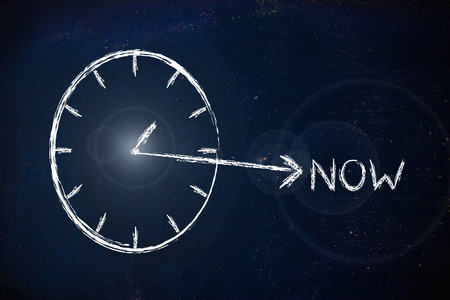 be or not to be: concept of not wasting time, be creative now
