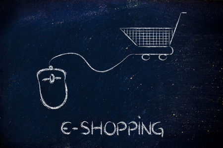 cpc: online sales and marketing strategy: mouse with cart