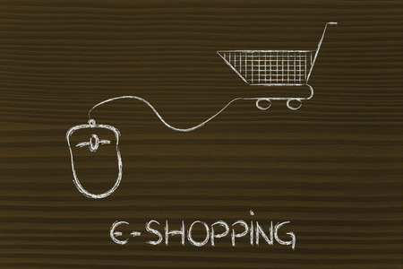 online sales and marketing strategy: mouse with cart photo