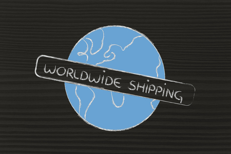 initiative: logo for an initiative of free worldwide shipping