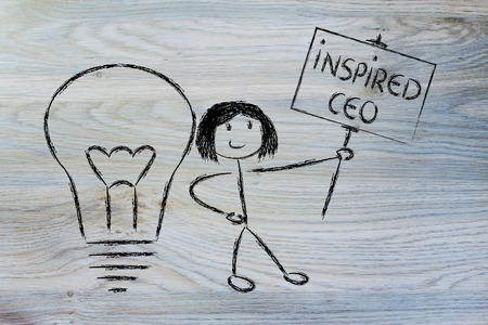 knowledgeable: knowledgeable girl holding a sign saying inspired ceo