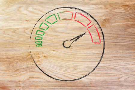 reaching your goals: speedometer as symbol of reaching your goals fast