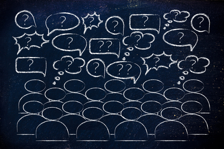 opinions: people reacting and commenting or expressing their feelings and opinions