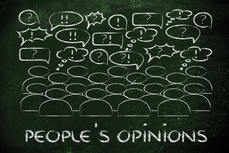 reacting: people reacting and commenting or expressing their feelings and opinions