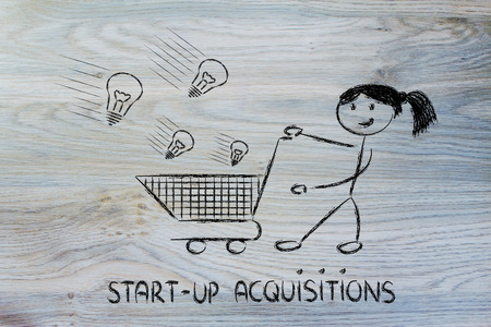 metaphor design about selecting innovative projects and start-ups to invest on Standard-Bild