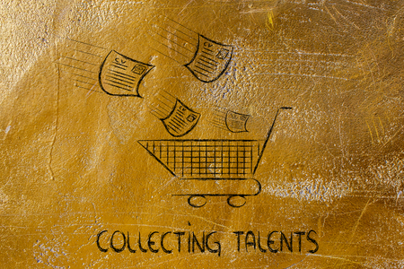 scouting: funny metaphor of CV selection for talent scouting, collecting the best talents