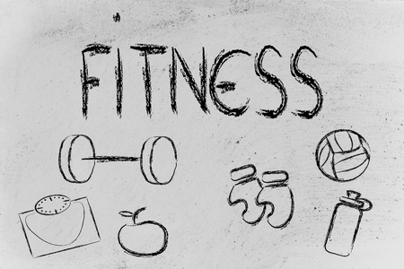 sculpt: fitness equipment: live healthy and fit Stock Photo