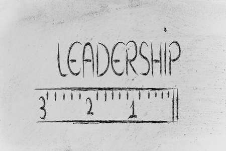 humour design of a ruler measuring leadership photo