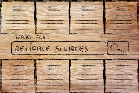 surcharge d'information, des sources fiables et la recherche de documents en ligne