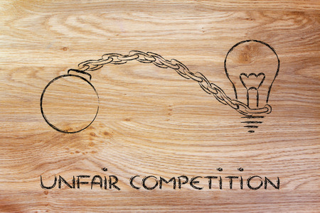 idea stuck with ball and chain, effects of unfair competition photo