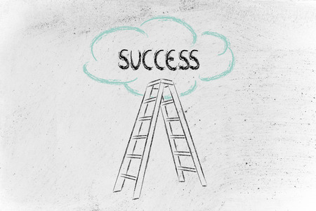 ladder to success, reach your own goals, chase your own dreams