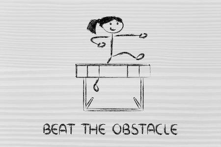conception de haies, métaphore de surmonter les obstacles dans la vie et gagner le défi