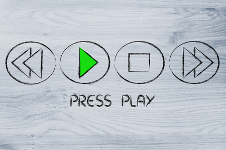 function key: musicvideo buttons, press play