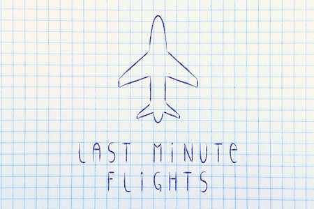 last minute: air route and plane trail, booking last minute flights