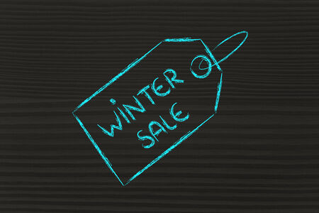 shopping and sales: price tag with promotion photo
