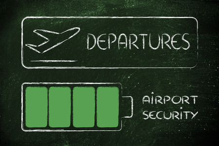 outbound: new airport security procedures, all devices charged for boarding